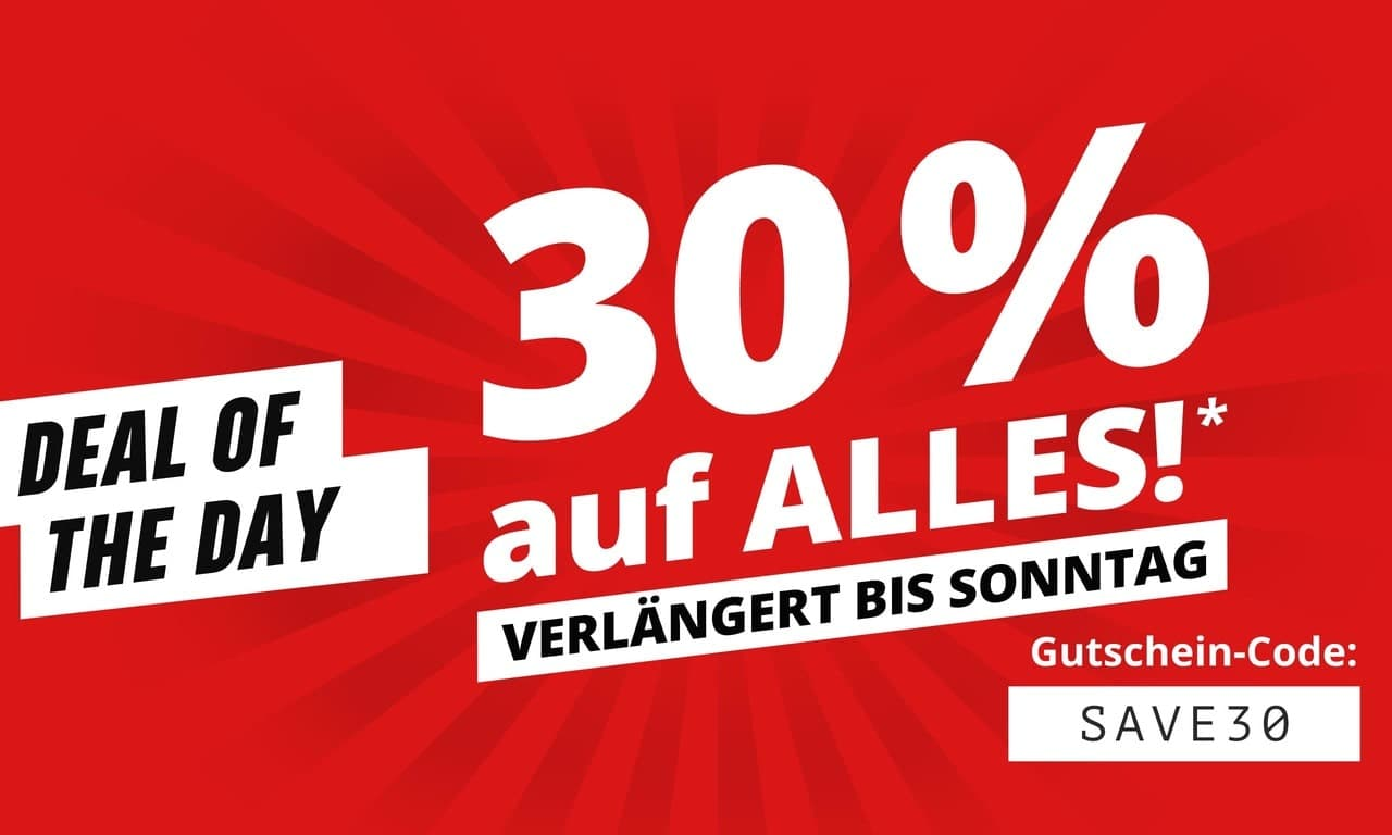 Deal of the Day: 30% Rabatt auf Alles*